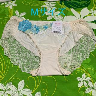 AMPHI - Mサイズ・ワコール・amphi・美しいバニラアイボリー×水色ローズ