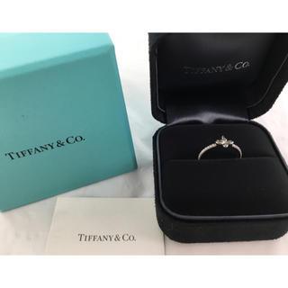 ティファニー(Tiffany & Co.)の新品 ティファニー Pt950 フルール ド リス バンド リング #8 ダイヤ(リング(指輪))