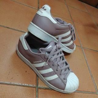 adidas - Adidas くすみピンクsuperstar サイズ24