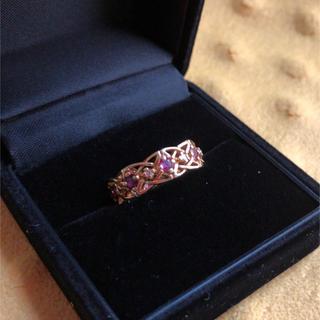 ジバンシィ(GIVENCHY)の【最終お値下げ】K18 ルビーダイヤリング(リング(指輪))