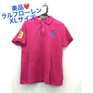 Ralph Lauren - 美品❤️ラルフローレン 半袖ポロシャツ XL❤️ビックポニー ピンク 刺繍