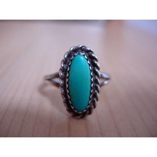 インディアン(Indian)のターコイズリング  シルバー&トルコ石 インディアンジュエリー(リング(指輪))
