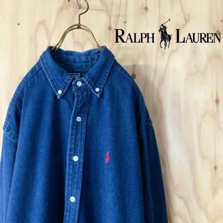 POLO RALPH LAUREN - 【美品】RALPH LAUREN ヘビーウェイト デニム BDシャツ US L
