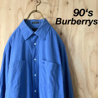 BURBERRY - 【美品】90's Burberrys バーバーリー チェックデザインシャツ