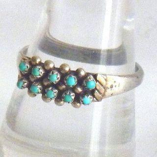 新品・ズニ族・オールドタイプ・クラスター・ビンテージ・1990年代輸入品(リング(指輪))