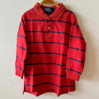 Ralph Lauren - 送料込110cm4TRalphLaurenラルフローレン長袖ポロシャツ男の子赤