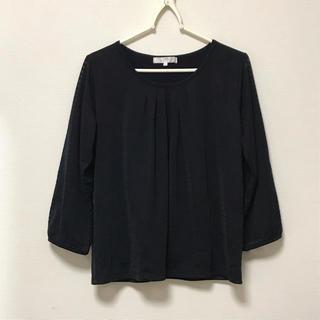 シフォンブラウス ブラック 七分袖(シャツ/ブラウス(長袖/七分))