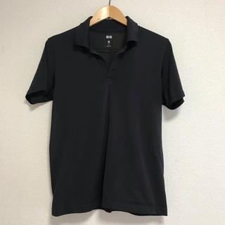 UNIQLO - UNIQLO メンズ メッシュポロシャツ 黒 M