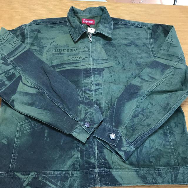 Supreme(シュプリーム)の専用19aw Supreme Is Love Denim Work Jacket メンズのジャケット/アウター(Gジャン/デニムジャケット)の商品写真