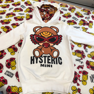 HYSTERIC MINI - ④テディ パーカーワンピ