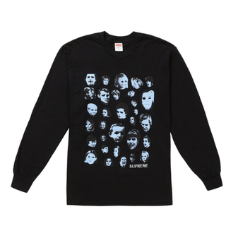 Supreme - supreme Faces L/S Tee ロンT 黒L 長袖