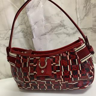 フェラガモ(Ferragamo)のフェラガモ バッグ FENDI 赤 小さめ ハンドバッグ(ハンドバッグ)