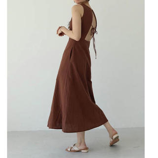 TODAYFUL - todayful backopen tie dress