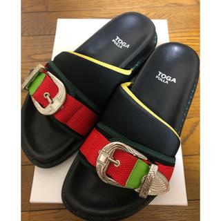 TOGA - 新品 未使用 TOGA PULLA Metal buckle sandals