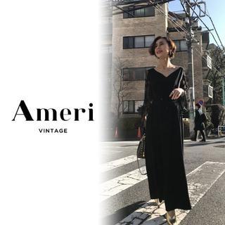 Ameri VINTAGE - 新品 Ameri LACE SLEEVE REFINED DRESS【ブラック】