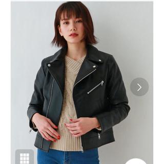 オゾック(OZOC)のオゾック  ライダースジャケット 美品 ブラック(ライダースジャケット)
