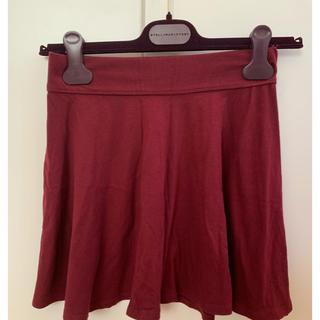 ホリスター(Hollister)のスカート ワインレッド(ミニスカート)