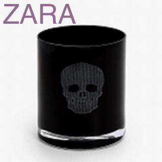 ザラホーム(ZARA HOME)の新品 未使用 ザラホーム スカル柄 ペアグラス カップ コップ ブラック 黒(グラス/カップ)