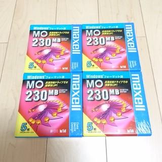 マクセル(maxell)のMO 230MB 5枚入り×4個(その他)