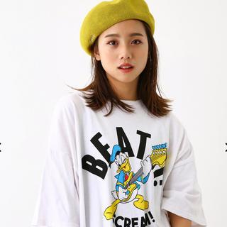 ロデオクラウンズワイドボウル(RODEO CROWNS WIDE BOWL)のRCWB★Donald Rock Tシャツワンピ(即発送可能)(Tシャツ(半袖/袖なし))