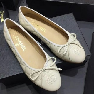 CHANEL - バレエシューズ Chanel シャネル レディース パンプス ホワイト