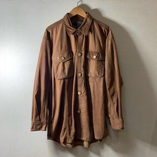 ジョンローレンスサリバン(JOHN LAWRENCE SULLIVAN)の【Vintage】leather over jacket コルクボタン 80s(レザージャケット)