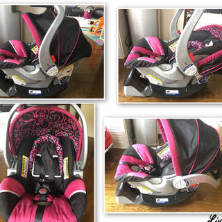 ベビートレンド(Baby Trend)のExpedition® ELX Travel System - Cerise(ベビーカー/バギー)