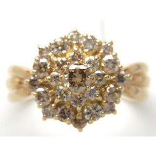 K18 合計1.00ct 天然 ダイヤモンド リング(リング(指輪))
