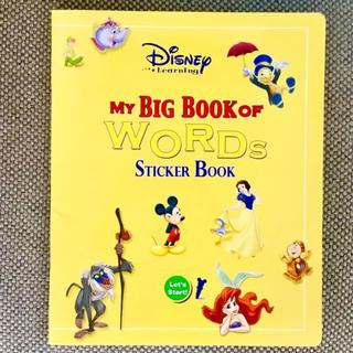 Disney - DWE MY BIG book of words ステッカーブック