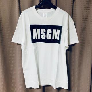 エムエスジイエム(MSGM)のMSGM ボックスロゴ Tシャツ 値下げ中!(Tシャツ/カットソー(半袖/袖なし))