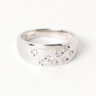 PT900 Diamond Star Ring(リング(指輪))