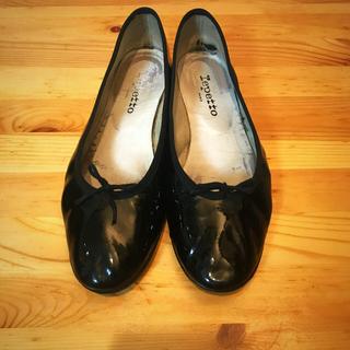 レペット(repetto)の正規品♡repetto レペット エナメルフラットシューズバレエシューズ 40(ローファー/革靴)