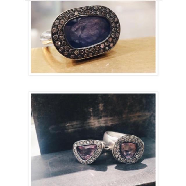 hum 1点もの コランダム グレーダイヤリング レディースのアクセサリー(リング(指輪))の商品写真