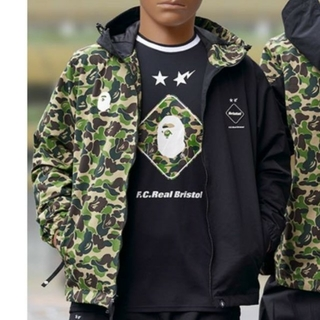 A BATHING APE - BAPE FCRB SEPARATE PRACTICE JACKET XL