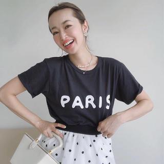Drawer - ドゥロワー 購入 ロマンスTシャツ S ブラック