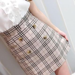 evelyn - チェック台形スカート
