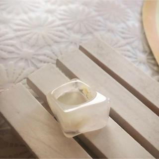 TODAYFUL - 【import】ホワイト マーブルリング