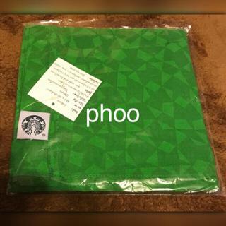 スターバックスコーヒー(Starbucks Coffee)のスタバ タイ【スカーフ/バンダナ/ハンカチ】グリーン(バンダナ/スカーフ)
