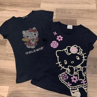 ハローキティ(ハローキティ)のハローキティTシャツ 2枚セット(Tシャツ(半袖/袖なし))