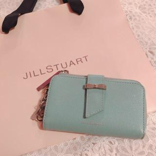 ジルスチュアート(JILLSTUART)のJILL STUART キーケース 水色 リボン(キーケース)
