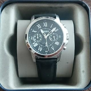 フォッシル(FOSSIL)のFOSSIL 黒 腕時計 箱アリ FS4840(腕時計(アナログ))