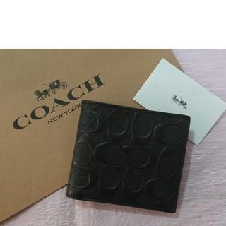 COACH - 不動の1位❗プレゼントにも最適❗コーチ二つ折り財布  ブラック