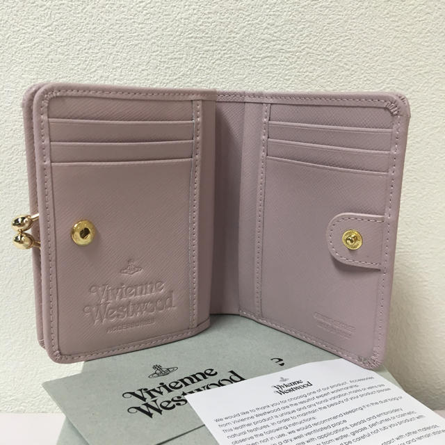 Vivienne Westwood(ヴィヴィアンウエストウッド)の◆新品◆Vivienne Westwood◆サフィアーノレザー二つ折り財布ピンク レディースのファッション小物(財布)の商品写真