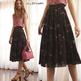 JILLSTUART - 美品 ジルスチュアート web限定 シーフラワースカート