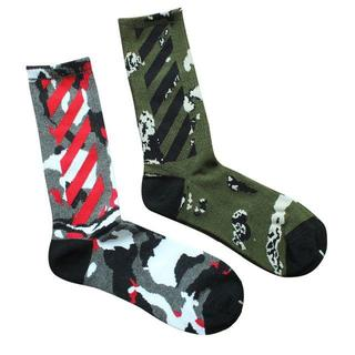靴下 ロングソックス 迷彩 カモ 2色 海外 ストリート カニエ 人気 流行