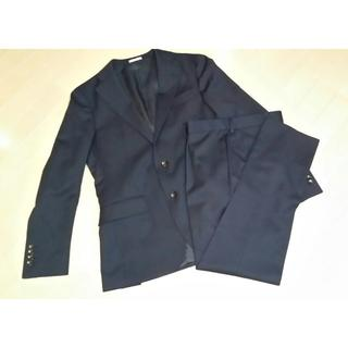 未使用品■スーツセレクト■ネイビー■ウール素材■秋冬物メンズスーツ上下