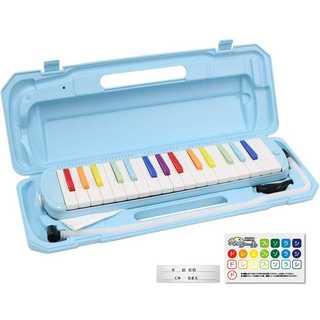 ★残りわずか!★ 鍵盤ハーモニカ メロディピアノ 32鍵 虹色