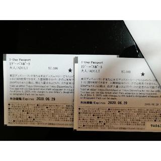 東京ディズニーリゾート 大人 1デーパスポート 2枚