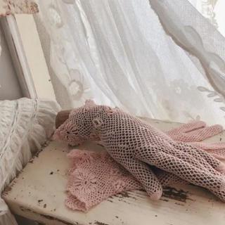 フランスアンティーク グローブ 手袋 ピンク