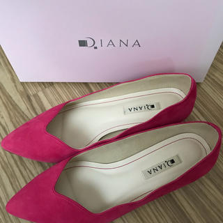 DIANA - DIANA ダイアナ パンプス スカラップ ピンク 24センチ